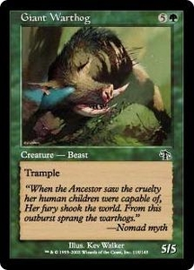 Magic the Gathering Judgment Single Card Common #118 Giant Warthog