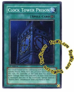 YuGiOh GX Enemy of Justice Single Card Super Rare EOJ-EN048 Clock Tower Prison
