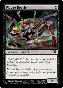 Magic the Gathering Tenth Edition Single Card Common #168 Plague Beetle