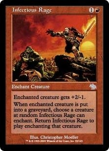 Magic the Gathering Judgment Single Card Uncommon #92 Infectious Rage