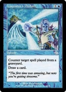 Magic the Gathering Judgment Single Card Uncommon #44 Laquatus's Disdain