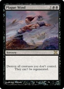 Magic the Gathering Tenth Edition Single Card Rare #169 Plague Wind