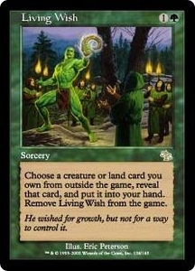 Magic the Gathering Judgment Single Card Rare #124 Living Wish Played Condition