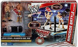 Mattel WWE Wrestling Exclusive Ring Playset Ringside Battle [John Cena & Alberto Del Rio Action Figures!]
