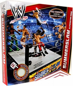 Mattel WWE Wrestling Summerslam Superstar Ring [Pro-Tension Ropes!]
