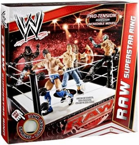 Mattel WWE Wrestling RAW Superstar Ring [Pro-Tension Ropes!]