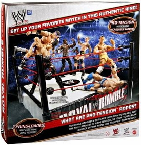 Mattel WWE Wrestling Royal Rumble Superstar Ring Pro-Tension Ropes!