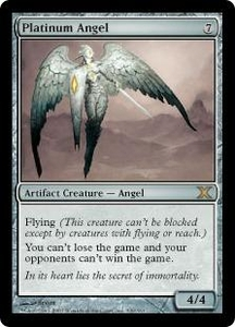 Magic the Gathering Tenth Edition Single Card Rare #339 Platinum Angel