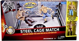 Mattel WWE Wrestling Exclusive Ring Steel Cage Match [John Cena & The Miz Action Figures]