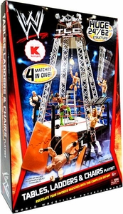 Mattel WWE Wrestling Exclusive Ring Playset Tables, Ladders & Chairs [TLC]