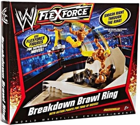 Mattel WWE Wrestling FlexForce Breakdown Brawl Ring
