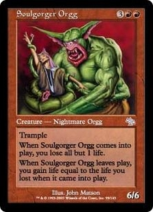 Magic the Gathering Judgment Single Card Uncommon #99 Soulgorger Orgg