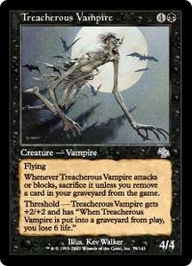 Magic the Gathering Judgment Single Card Uncommon #75 Treacherous Vampire