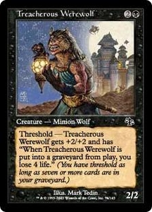Magic the Gathering Judgment Single Card Common #76 Treacherous Werewolf