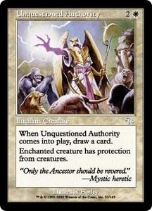 Magic the Gathering Judgment Single Card Uncommon #31 Unquestioned Authority