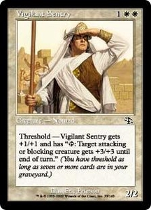 Magic the Gathering Judgment Single Card Common #33 Vigilant Sentry