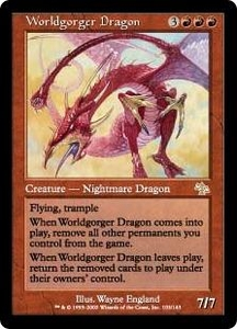 Magic the Gathering Judgment Single Card Rare #103 Worldgorger Dragon