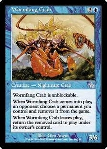 Magic the Gathering Judgment Single Card Uncommon #56 Wormfang Crab
