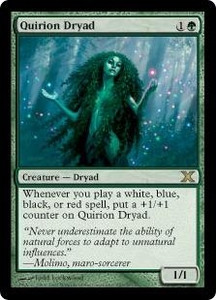 Magic the Gathering Tenth Edition Single Card Rare #287 Quirion Dryad