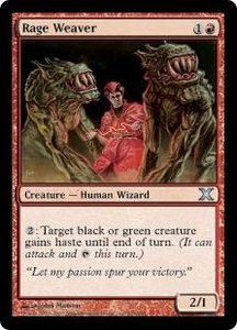 Magic the Gathering Tenth Edition Single Card Uncommon #223 Rage Weaver