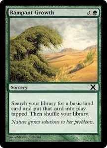 Magic the Gathering Tenth Edition Single Card Common #288 Rampant Growth
