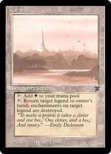 Magic the Gathering Legends Single Card Uncommon Karakas Unplayed Condition Beautiful!