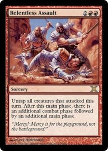 Magic the Gathering Tenth Edition Single Card Rare #225 Relentless Assault