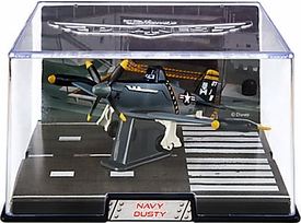 Disney Planes Exclusive 1:43 Die Cast Plane In Plastic Case Navy Dusty