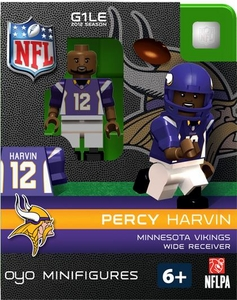 OYO Football NFL Building Brick Minifigure Percy Harvin  [Minnesota Vikings]