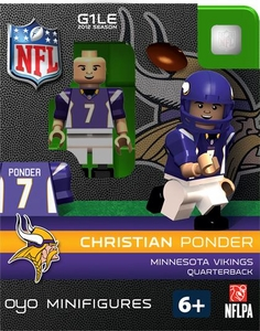 OYO Football NFL Building Brick Minifigure Christian Ponder [Minnesota Vikings]