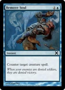 Magic the Gathering Tenth Edition Single Card Common #100 Remove Soul