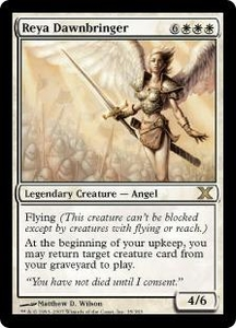 Magic the Gathering Tenth Edition Single Card Rare #35 Reya Dawnbringer