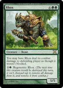 Magic the Gathering Tenth Edition Single Card Rare #291 Rhox