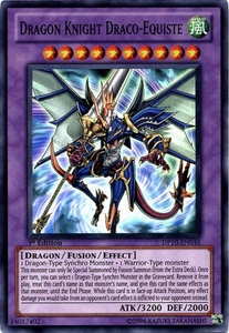 YuGiOh 5D's Card Game Duelist Pack Yusei Fudo 3 Single Card Super Rare DP10-EN016 Dragon Knight Draco-Equiste