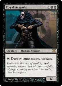 Magic the Gathering Tenth Edition Single Card Rare #174 Royal Assassin