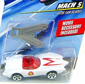 Speed Racer 1:64 Die Cast Hot Wheels Car Mach 5 with Saw Blades