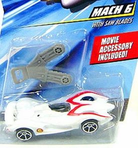Speed Racer 1:64 Die Cast Hot Wheels Car Mach 6 with Saw Blades