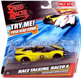 Speed Racer Hot Wheels Race Talking Racer X