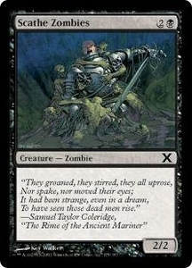 Magic the Gathering Tenth Edition Single Card Common #175 Scathe Zombies