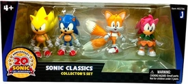 Sonic 20th Anniversary Exclusive Classics 3.5 Inch Action Figure 4-Pack [Super Sonic, Sonic, Tails & Amy] Only 2,000 Made!