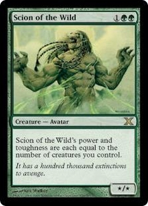 Magic the Gathering Tenth Edition Single Card Rare #295 Scion of the Wild