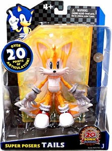 Sonic 20th Anniversary Super Posers Action Figure Tails [Over 20 Points of Articulation!]