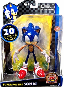 Sonic 20th Anniversary Super Posers Action Figure Sonic [Over 20 Points of Articulation!]
