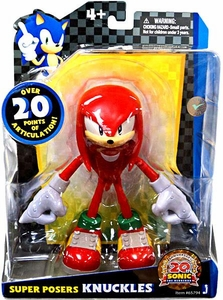 Sonic 20th Anniversary Super Posers Action Figure Knuckles [Over 20 Points of Articulation!]