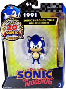 Sonic 20th Anniversary 5 Inch Through Time Action Figure 1991 Sonic