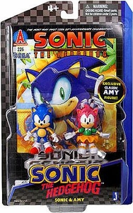 Sonic 20th Anniversary 3.5 Inch Action Figure with Comic Book 2-Pack Sonic & Amy