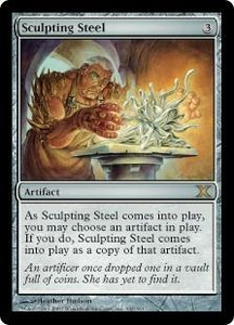 Magic the Gathering Tenth Edition Single Card Rare #342 Sculpting Steel