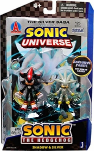 Sonic 20th Anniversary 3.5 Inch Action Figure with Comic Book 2-Pack Shadow & Silver [Exclusive Metallic Paint!]