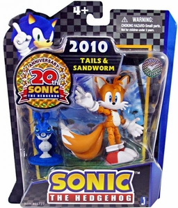 Sonic 20th Anniversary 3.5 Inch Action Figure 2010 Tails & Caterkiller Badnik