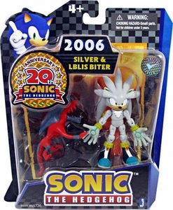 Sonic 20th Anniversary 3.5 Inch Action Figure 2006 Silver & Lblis Biter